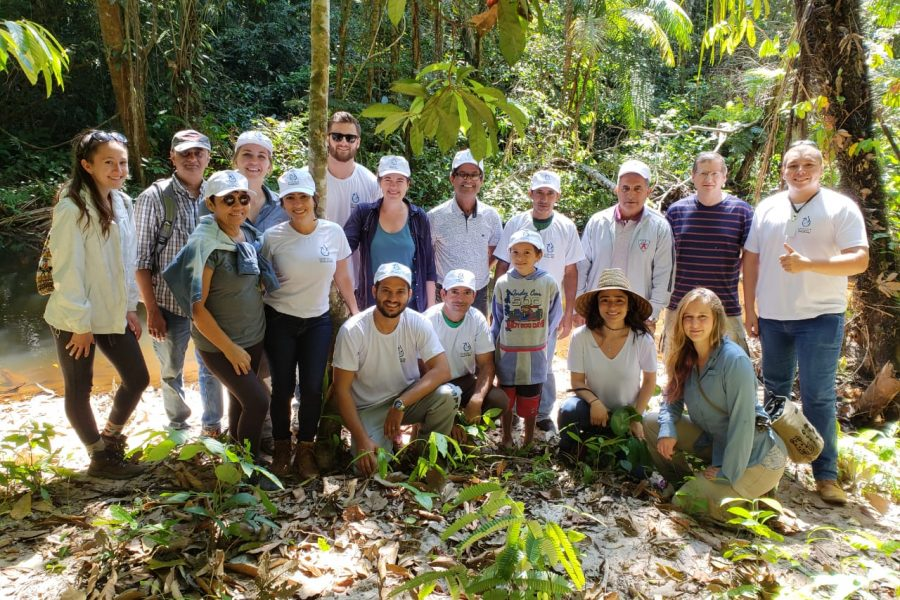 research group in Brazilian forest